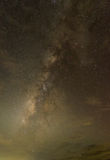在天空的银河 免版税库存照片