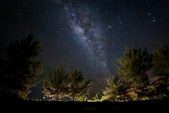 在天空的银河 免版税库存图片