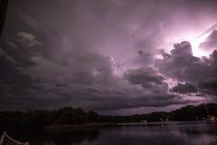 在天空的闪电 库存图片