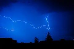 在天空的闪电 免版税库存照片