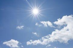 在天空的阳光 免版税库存图片