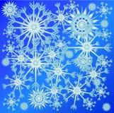 在天空的雪花 免版税库存图片