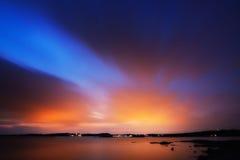 在天空的颜色 免版税库存图片