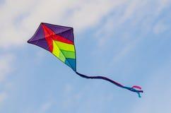 在天空的风筝 免版税库存图片