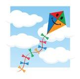 在天空的风筝 图库摄影