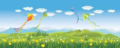在天空的风筝 免版税图库摄影