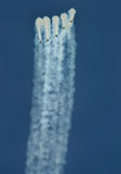 在天空的飞机 图库摄影