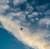 在天空的飞机 库存图片