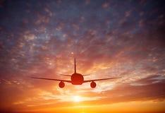 在天空的飞机 库存照片