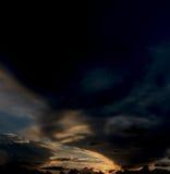 在天空的鬼魂乘驾 库存图片