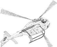 在天空的直升机 免版税库存照片