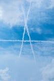 在天空的A上写字 免版税库存照片