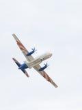 在天空的IL 114雷达 库存照片