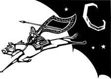 在天空的Valkyrie 免版税库存图片