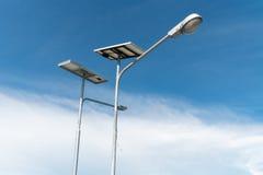 在天空背景的太阳能 免版税库存照片