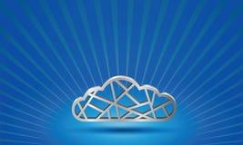 在天空背景的轻的云彩 免版税库存照片