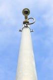 在天空背景的Cctv照相机 免版税图库摄影