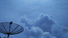 在天空背景空间的云彩 图库摄影