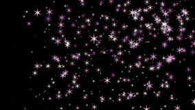 在天空行动的闪耀的美好的星焕发 皇族释放例证