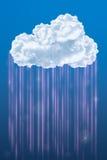 在天空,云彩计算的概念的云彩 免版税库存图片