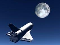在天空58的航天飞机 免版税库存图片
