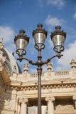 在天窗的路灯柱-巴黎 免版税库存照片
