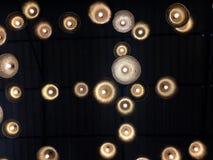 在天花板的灯光 库存图片