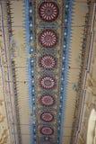 在天花板的艺术性的绘画在Nayakkar宫殿 库存照片