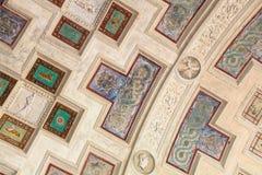 在天花板的装饰品在Palazzo del Te在曼托瓦 免版税库存图片