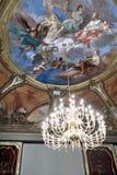 在天花板的18世纪壁画 免版税库存照片