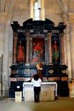 在天主教会里面在阿尔巴尤利亚堡垒,特兰西瓦尼亚 免版税库存照片