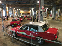 在太平山,香港的出租汽车 免版税库存照片