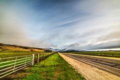 在太平洋海岸高速公路的多云天空 免版税库存照片