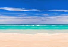 在太平洋海滩的晴天 库存图片
