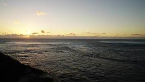 在太平洋的日落西澳州海岸的  股票视频
