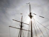 在太平洋的船帆柱 库存照片