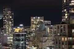 在太平洋西北地区的城市光 库存图片