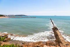 在太平海湾,青岛的八大关风景区 图库摄影