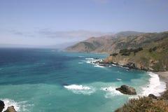 在太平洋的中央加利福尼亚海岸 库存图片