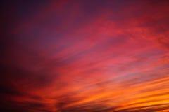 在太平洋的日落天空 库存图片