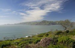 在太平洋的看法从指向Bonita的旧金山,加利福尼亚,美国 库存图片