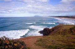 在太平洋的美丽的澳大利亚海滩 图库摄影