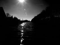 在太阳下的水色 免版税库存图片