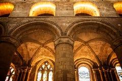在太阳充斥的教会 免版税图库摄影