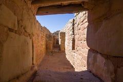 在太阳寺庙, Mesa Verde国家公园的走廊 免版税库存照片