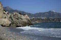 在太阳海岸,马拉加,西班牙的内尔哈著名手段 图库摄影