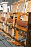 在太阳的椅子 免版税库存图片