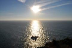 在太阳的海角Roca的峭壁 免版税库存照片