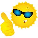 在太阳镜的太阳 库存例证
