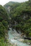 在太鲁阁国家公园的风景风景在台湾 免版税图库摄影